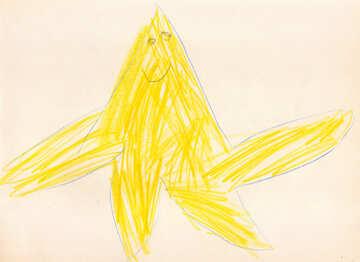Children`s drawing starfish №42736