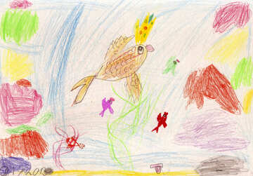 Children`s drawing water realm №42832