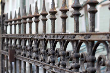 Forged old fence №42066