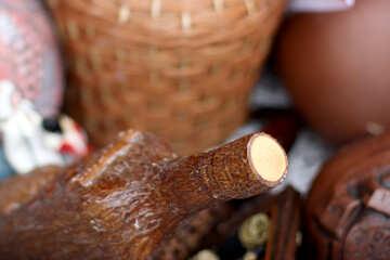 Ceramic bottle for wine №42328