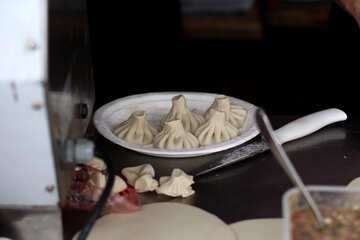 Khinkali on a plate №42334