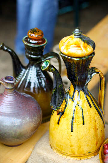 Georgian ceramic jars for wine №42404