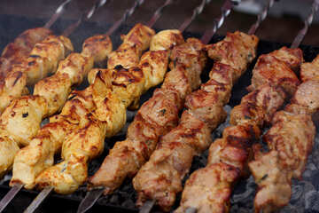Georgian shish kebabs on the grill №42339