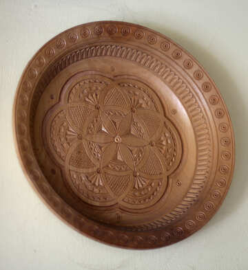 Wooden plate №42293
