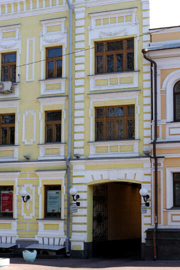 Typical old facade in Kiev №42042