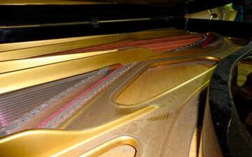 Inside a grand piano №42924