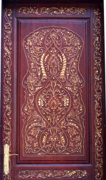 Carved pattern on the door №42055