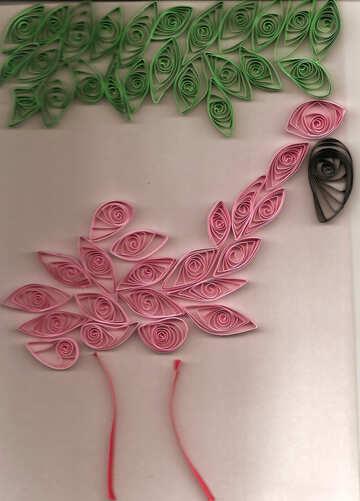 Quilling pink flamingo №42884