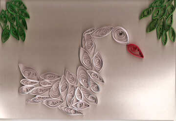 Quilling white swan №42883