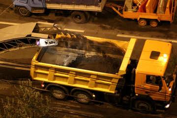 Riparazione della strada di notte №42310