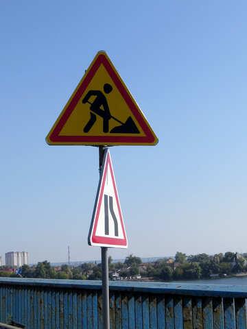 Lavori stradali segno №42509