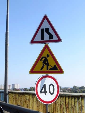 Segni per le riparazioni stradali №42511