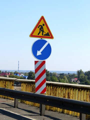 Segni per le riparazioni stradali №42516