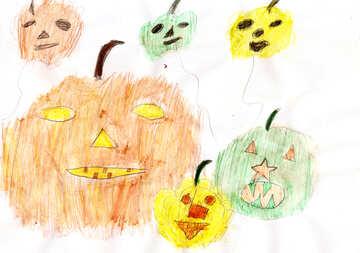Children drawing on Halloween №42889