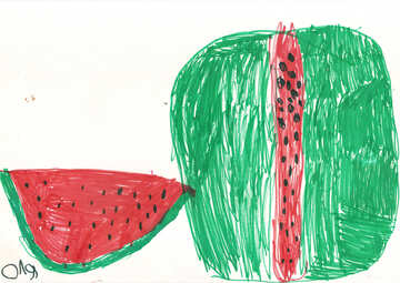 Children still life watermelon №42777