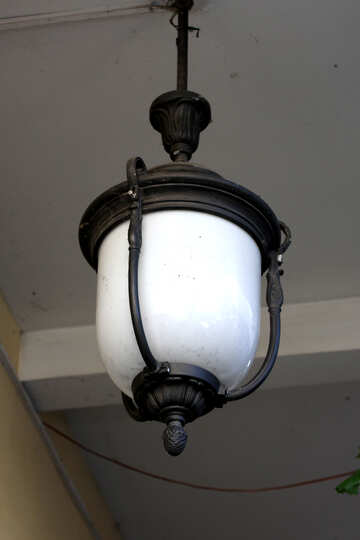 Vintage lamp on the ceiling №42200