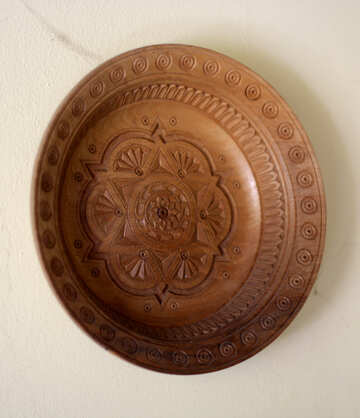Decorative plate made of wood №42294