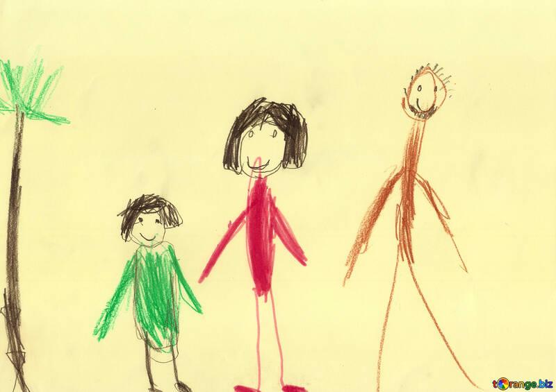 Disegno Di Un Bambino : Disegni di persone per bambini famiglia illustrazione del bambino