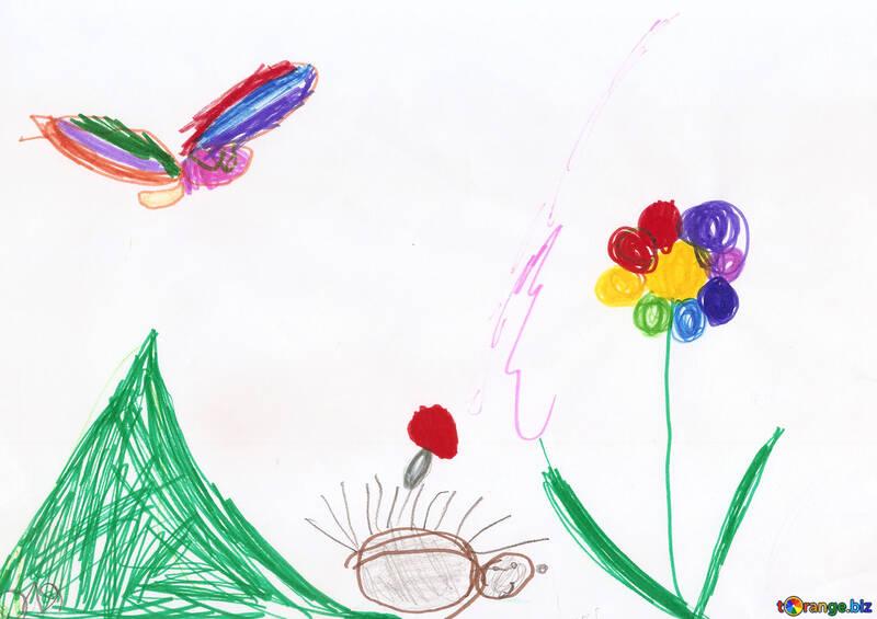 Disegni Di Fiori Dei Bambini Farfalla Disegno Per Bambini E Fiori