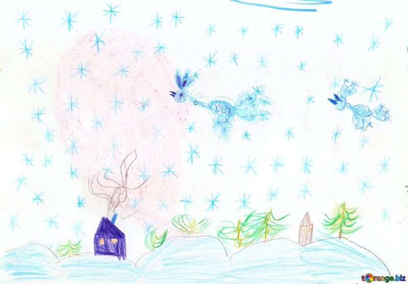 Children`s drawing winter №42730