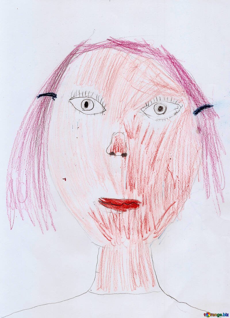 Children`s drawing a portrait №42891