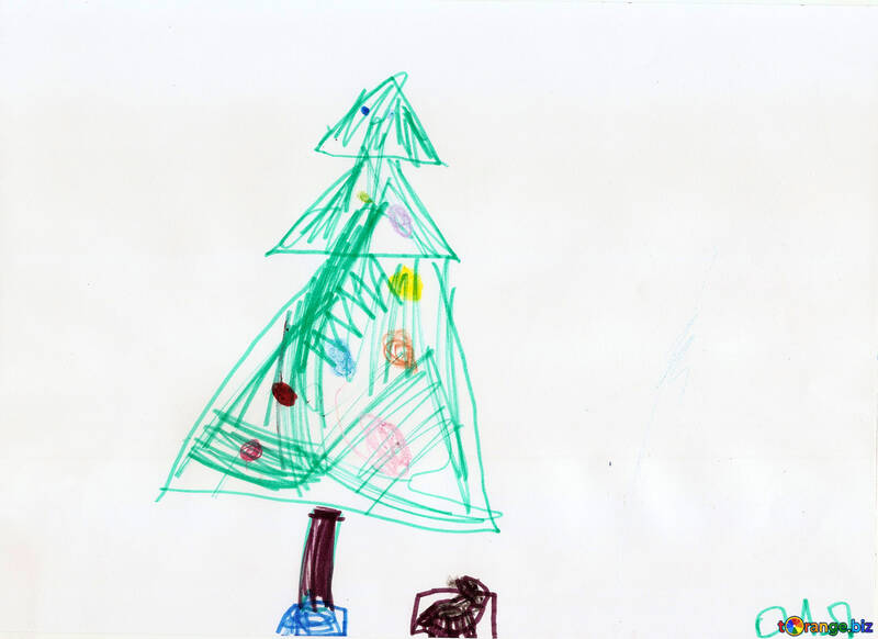 Christmas Trees Drawing.Christmas Trees Pictures Children Drawing Christmas Tree