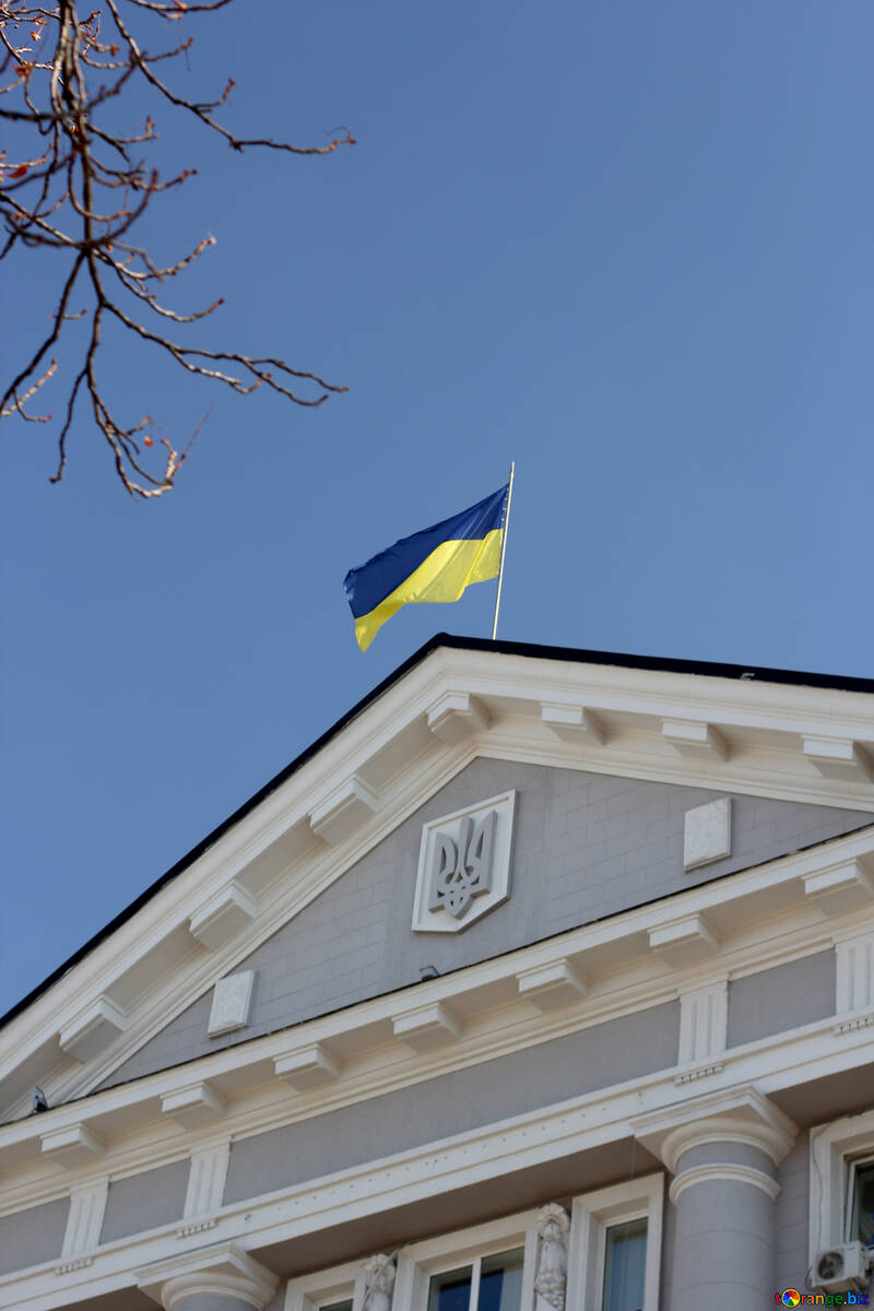 Flag of Ukraine over the building №42034