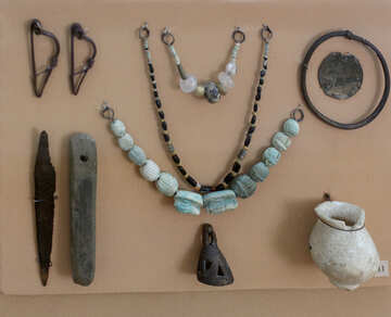 Ancient ornaments and household items №43878