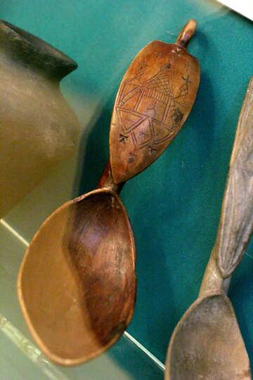 Vintage wooden spoon №43371