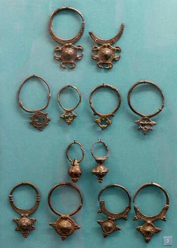 Ancient earrings №43981
