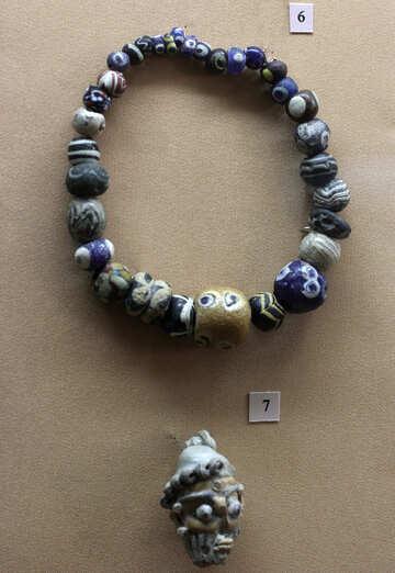 Vintage ceramic beads №43708