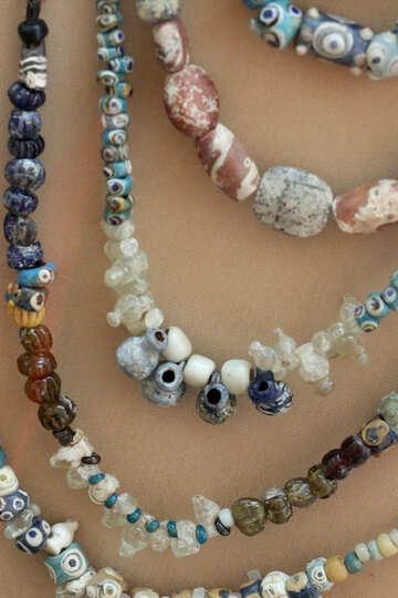 Vintage ceramic beads №43919