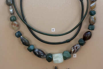 Ancient stone beads №43876
