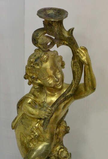 Ancient bronze candlestick №43302