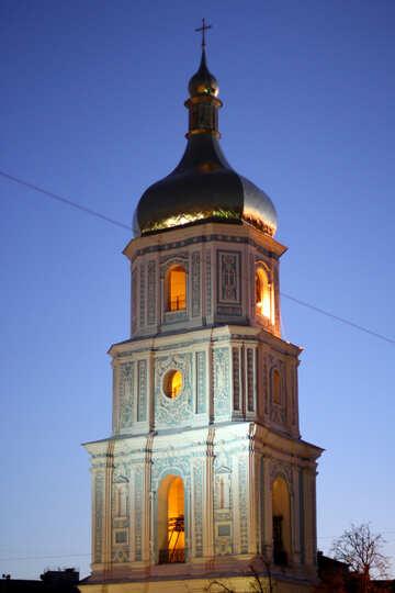 Софиевский собор в Киеве вечером №43682