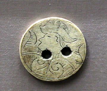 Antique buttons made of bone №43605