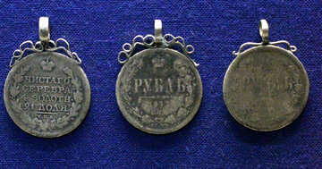 Antique jewelry from coins №43480