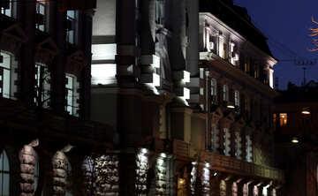 L`edificio a Kiev in serata №43695