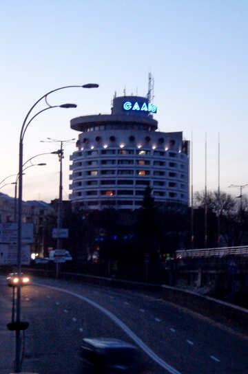 Гостиница Салют вечером №43120