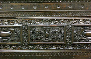 Carved pattern on antique furniture №43351