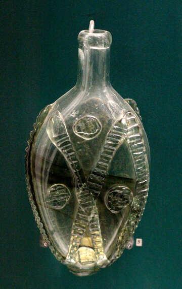 Vintage glass jar №43663