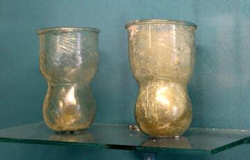 Antique glass beakers №43975