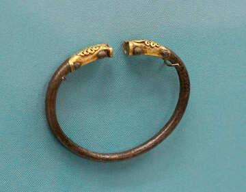 Vintage bracelet with gold №43965
