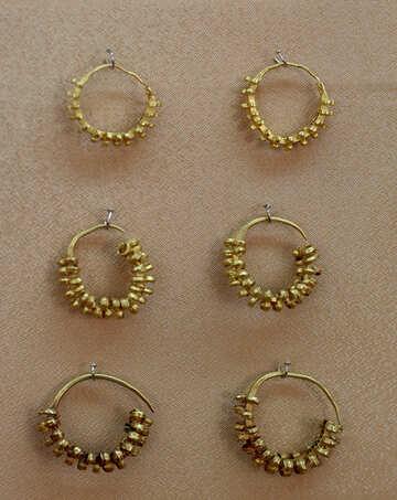 Vintage earrings of gold №43696