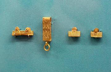 Vintage gold Elemente der Kleidung №43963