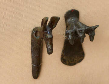Former hanger hook of bronze in the shape of a horse №43899
