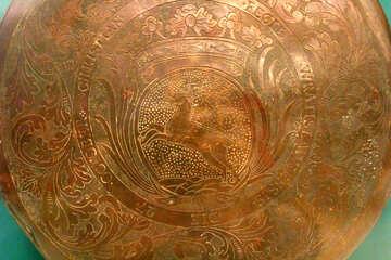 Texture gold metal stamping №43393