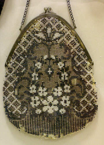 Vintage handbag with embroidery №43263