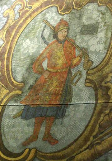 Vintage pattern on fabric №43636