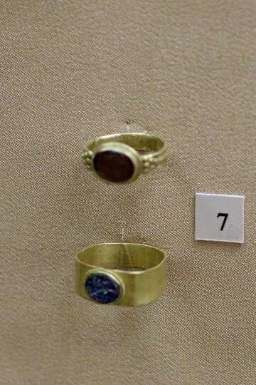 Vintage gold rings №43753